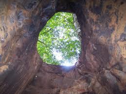 inside a hole