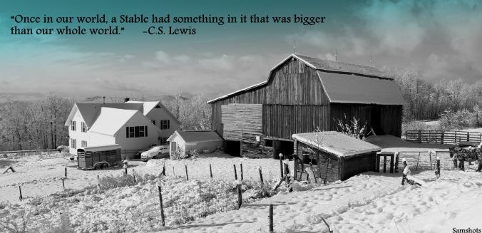 Farm and Christmas barn